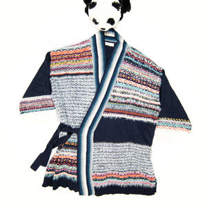 Sleeping on Snow, Anthro blue knit wrap cardigan